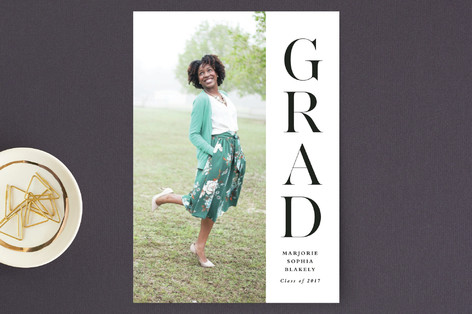 Very vertical Graduation Announcement Postcards