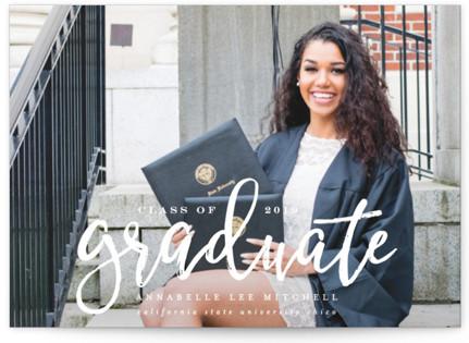 Boho Graduation Announcement Postcards