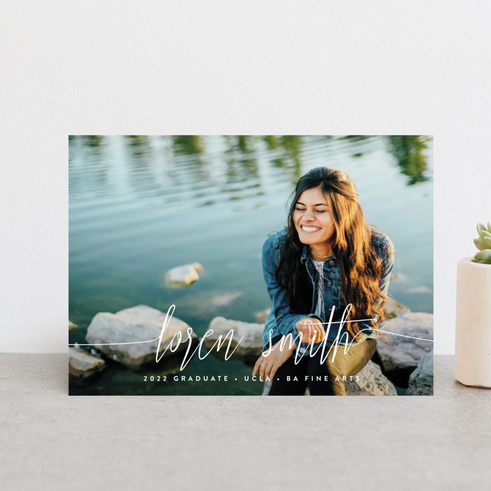 """""""My Name Is"""" - Modern Graduation Announcement Postcards in Cloud by Phrosne Ras."""