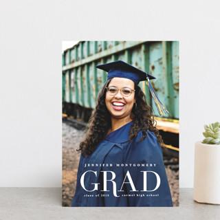 Rosy Glow Graduation Announcement Postcards