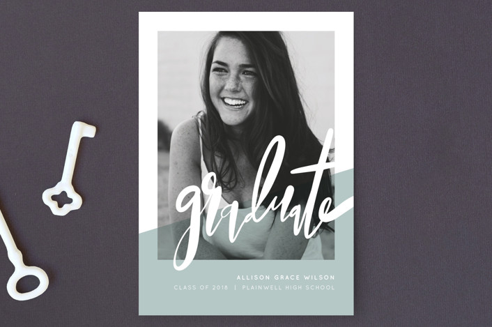"""""""Color Capture"""" - Modern Graduation Announcement Postcards in Great Lakes by Pixel and Hank."""
