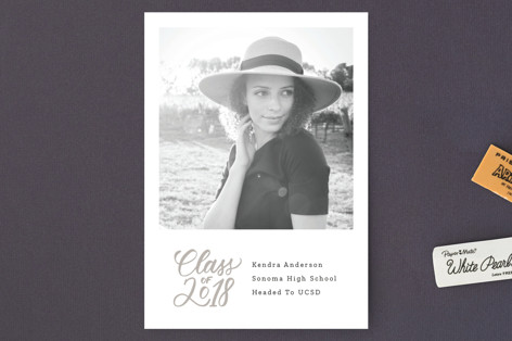 Square Graduation Announcement Postcards