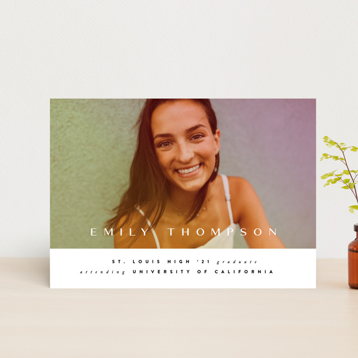 """""""Sunlight"""" - Graduation Announcement Postcards in Sunset by Ana Sharpe."""