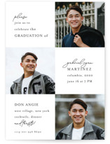 This is a white graduation announcement postcard by Chris Griffith called Grad Night with standard printing on signature in postcard.