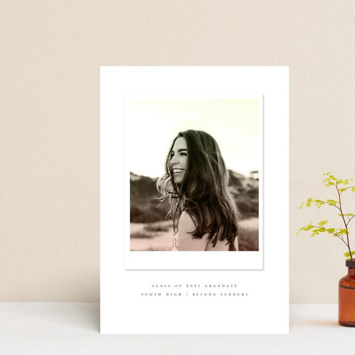 """Vintage Snapshot"" - Graduation Announcement Postcards in Sage by Grace Kreinbrink."