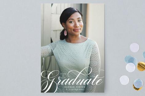 Formality Graduation Announcement Postcards