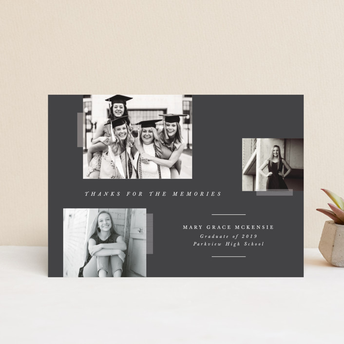 """""""Memory Book"""" - Graduation Announcement Postcards in Cotton by Bethany McDonald."""