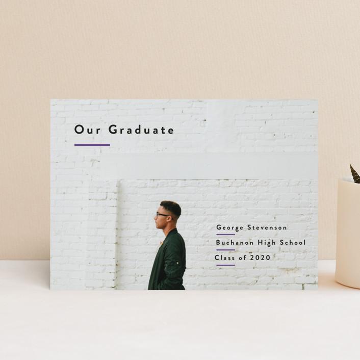 """Simple Pride"" - Graduation Announcement Postcards in Mustard by Inkblot Design."