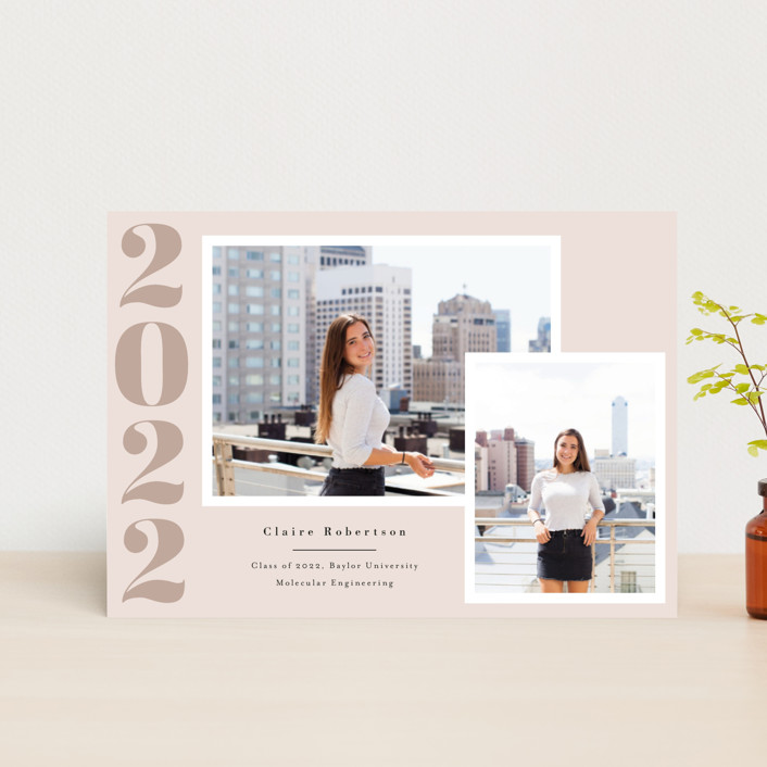 """Your Year"" - Graduation Announcement Postcards in Blush by Annie Shapiro."
