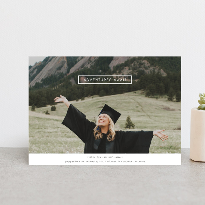"""Digital Style"" - Graduation Announcement Postcards in Cloud by Kann Orasie."