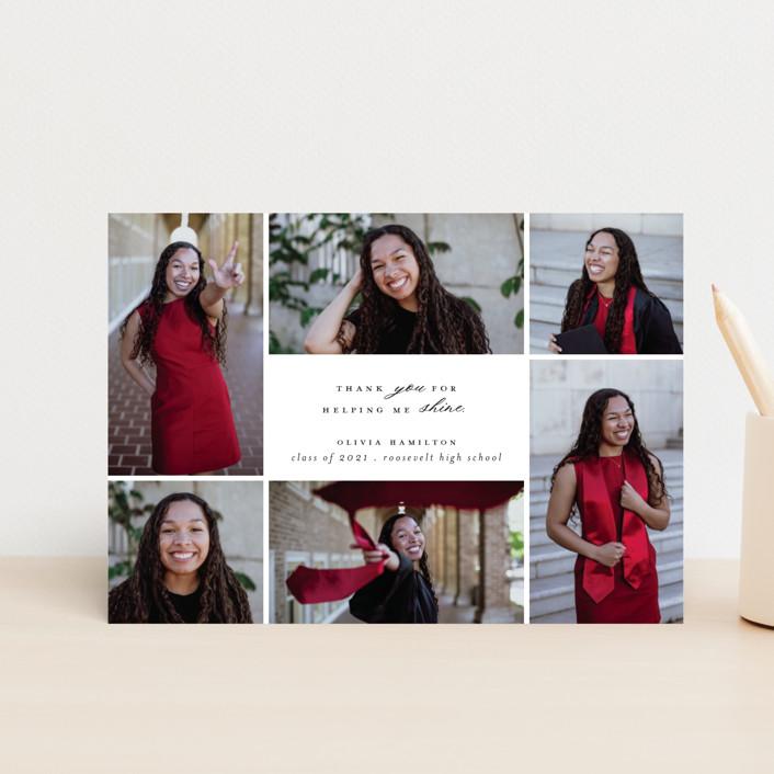 """Shine Bright"" - Graduation Announcement Postcards in Blackboard by Hudson Meet Rose."