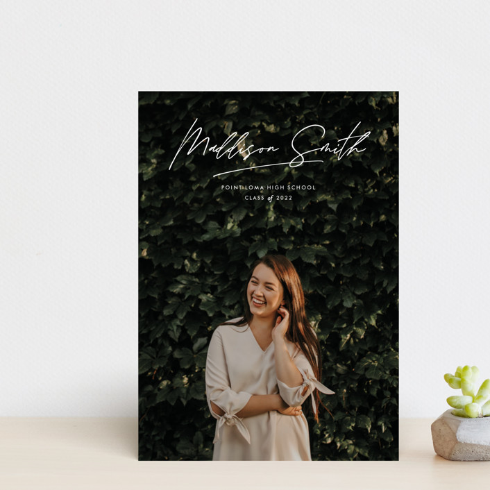"""Signed Sealed Delivered"" - Graduation Announcement Postcards in Cloud by Annie Clark."