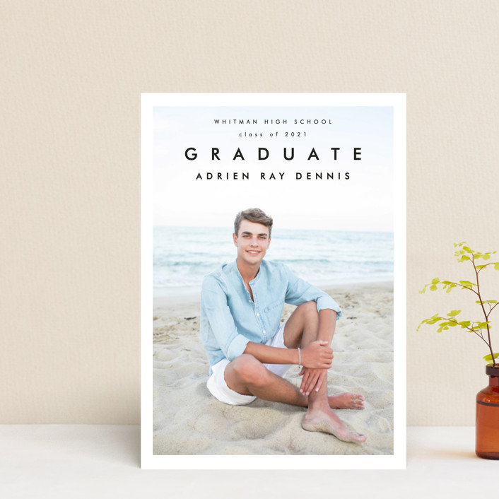"""""""Go Getter"""" - Graduation Announcement Postcards in Abyss by Kelly Williams."""