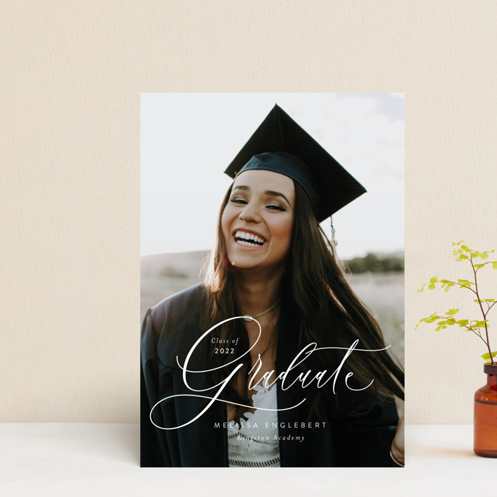 """""""Impression"""" - Graduation Announcement Postcards in Winter by Itsy Belle Studio."""
