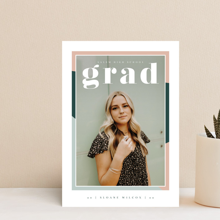 """""""Up Next"""" - Graduation Announcement Postcards in Sorbet by Danie Romrell."""