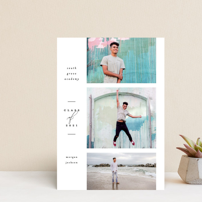 """Photo Reel"" - Graduation Announcement Postcards in Cotton by Everett Paper Goods."