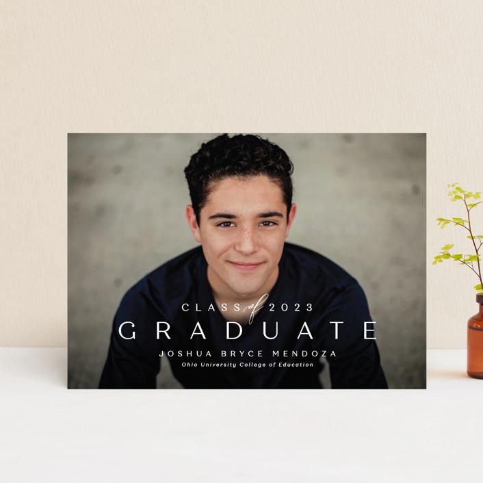 """Forward"" - Graduation Announcement Postcards in Chalk by Lea Delaveris."