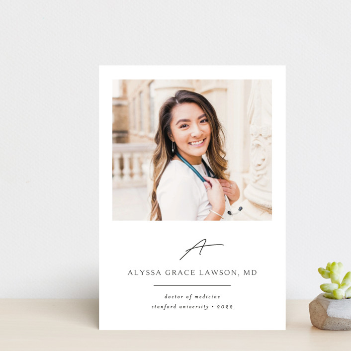 """""""Traditionally Mod"""" - Graduation Announcement Postcards in Opal by Kristel Torralba."""