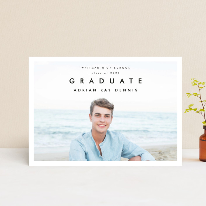 """Go Getter"" - Graduation Announcement Postcards in Abyss by Kelly Stewart."