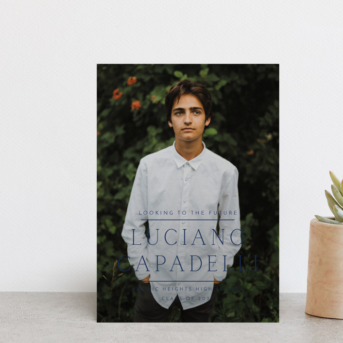 """""""Between The Lines"""" - Graduation Announcement Postcards in Fresh by Kaydi Bishop."""