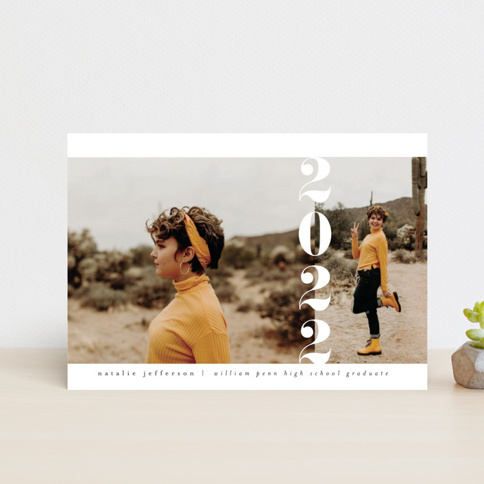"""""""Grad Year"""" - Graduation Announcement Postcards in Moon by Heather Cairl."""