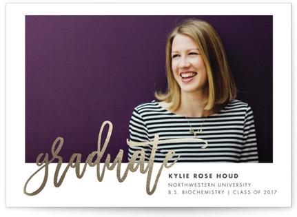 Class Spirit Foil-Pressed Graduation Postcards