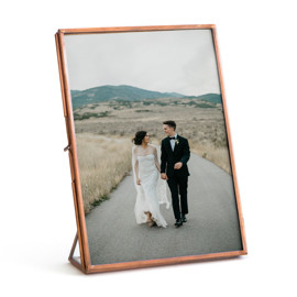 This is a brown picture frame by Minted called Copper in standard.