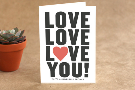 Love You! Anniversary Greeting Cards