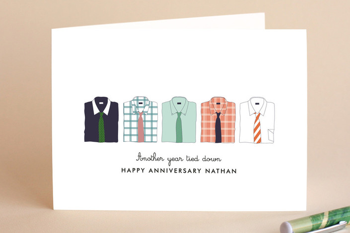 Those stylish men anniversary greeting cards by da minted