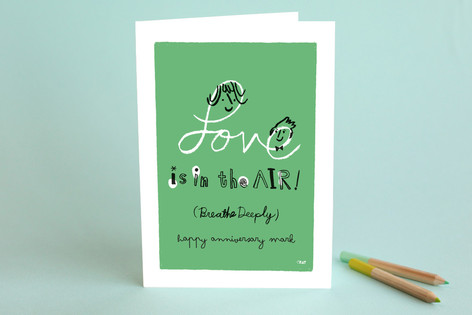 Love is in the Air Anniversary Greeting Cards