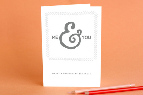 Me & You Anniversary Greeting Cards