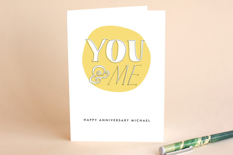 You and Me Anniversary Greeting Cards