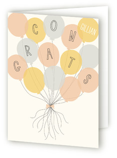 Balloon Bouquet Congratulations Cards