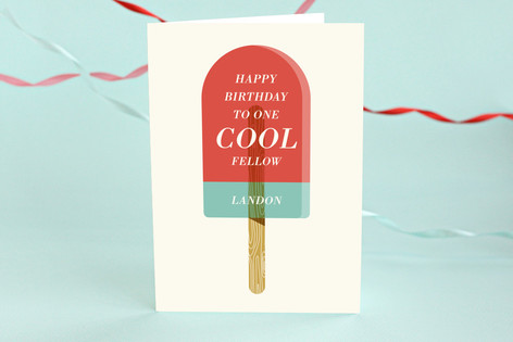 Cool Treat Kids Birthday Greeting Cards by Monica Minted