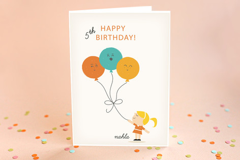 Growing Up Kid's Birthday Greeting Cards