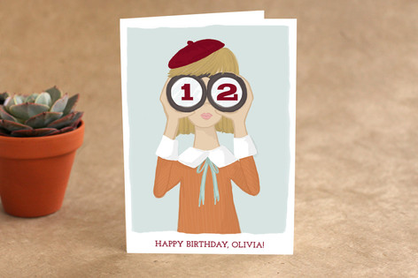 Little Spy Kid's Birthday Greeting Cards