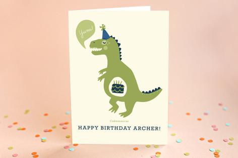 Cakeasaurus Kid's Birthday Greeting Cards