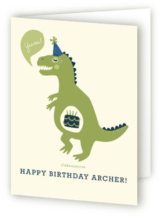 Cakeasaurus Kids Birthday Greeting Cards