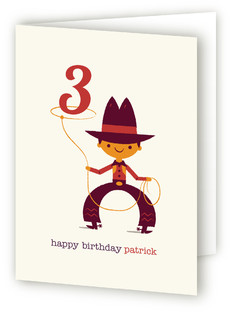 Cowboy Kids Birthday Greeting Cards