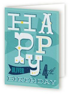 Retro Circus Kids Birthday Greeting Cards