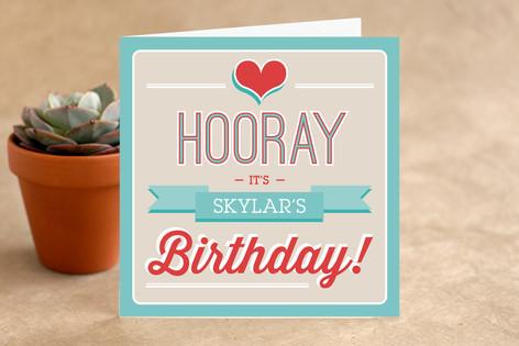 Retro Bday Kid's Birthday Greeting Cards
