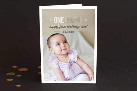 Onederful Kid's Birthday Greeting Cards