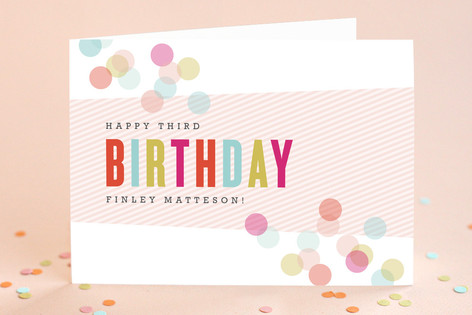 Confection Kid's Birthday Greeting Cards