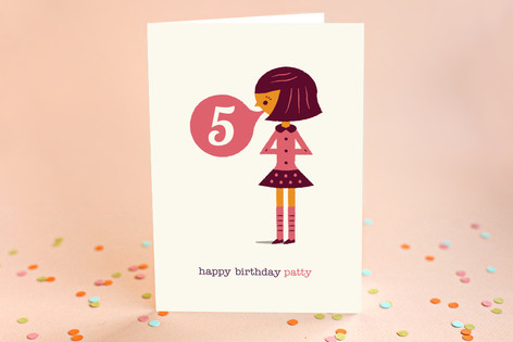 Bubblegum Kid's Birthday Greeting Cards