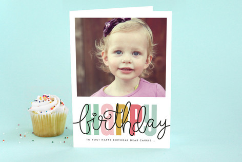 Birthday Script Kid's Birthday Greeting Cards