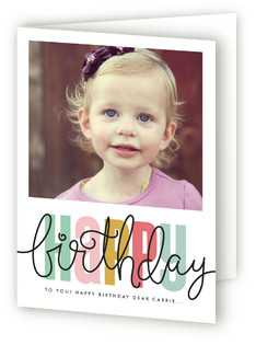 Birthday Script Kids Birthday Greeting Cards