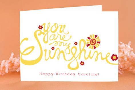 Sunshine Kid's Birthday Greeting Cards