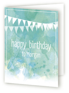 Watercolor Birthday Kids Birthday Greeting Cards