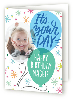 Balloon Birthday Kids Birthday Greeting Cards