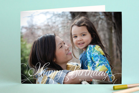 Classic Merry Birthday Greeting Cards